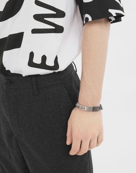 MAISON MARGIELA Silver curb chain bracelet Bracelet Man r