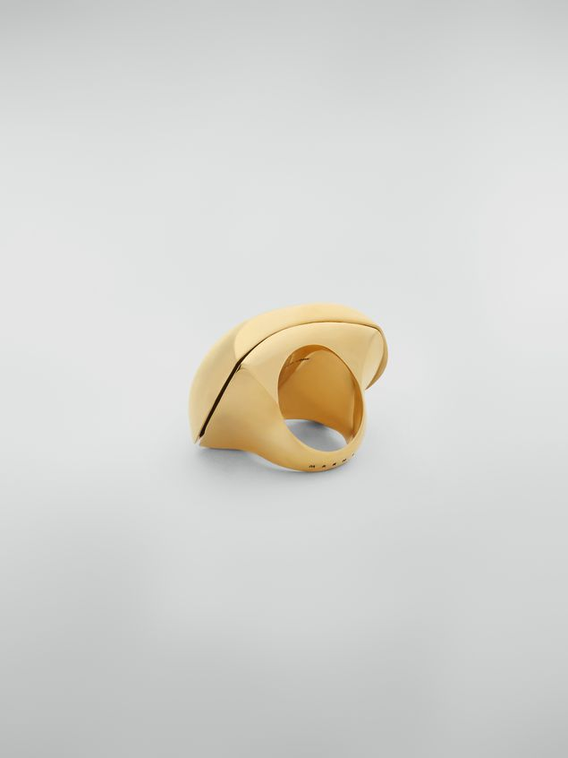Marni Curved ring in metal Woman