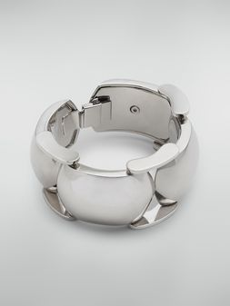 Marni  Bracelet in curved silver-tone metal Woman
