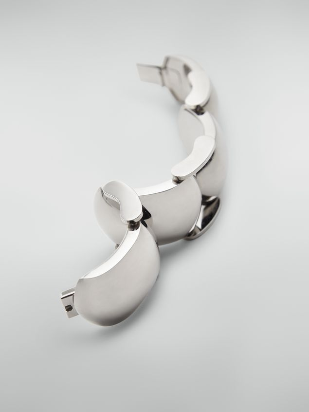 Marni  Bracelet in curved silver-tone metal Woman - 3