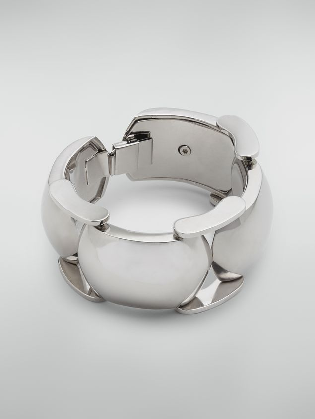 Marni  Bracelet in curved silver-tone metal Woman - 1
