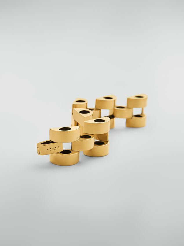 Marni  Mesh bracelet in gold-tone metal Woman - 3
