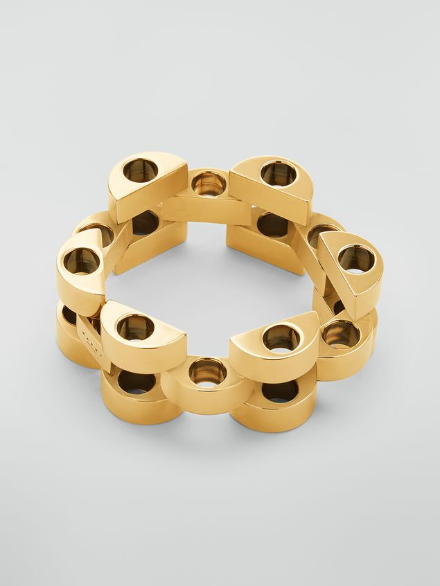 Marni  Mesh bracelet in gold-tone metal Woman - 1