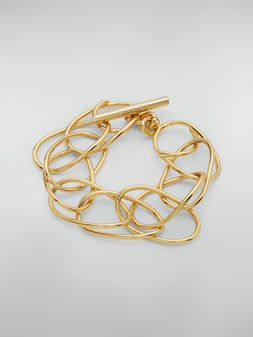 Marni Lightweight oval ring chain bracelet in brass and glass Woman