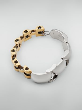 Marni Necklace in silver-and-gold-tone metal mesh Woman f