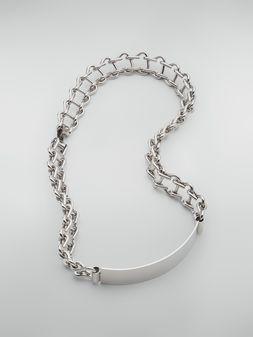 Marni Collar de metal con placa Mujer