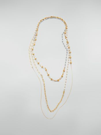 Marni Extra-long necklace in metal and glass Woman