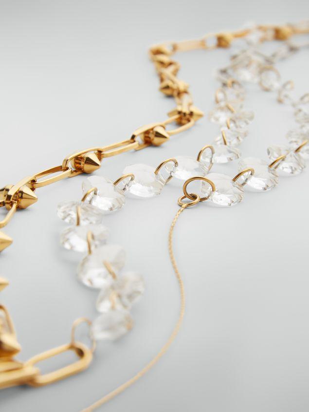 Marni Collar extralargo de metal y cristal Mujer - 4
