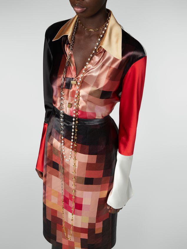 Marni Extralange Halskette aus Metall und Glas Damen - 2