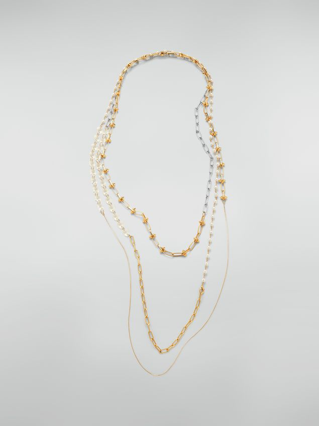 Marni Extra-long necklace in metal and glass Woman - 1