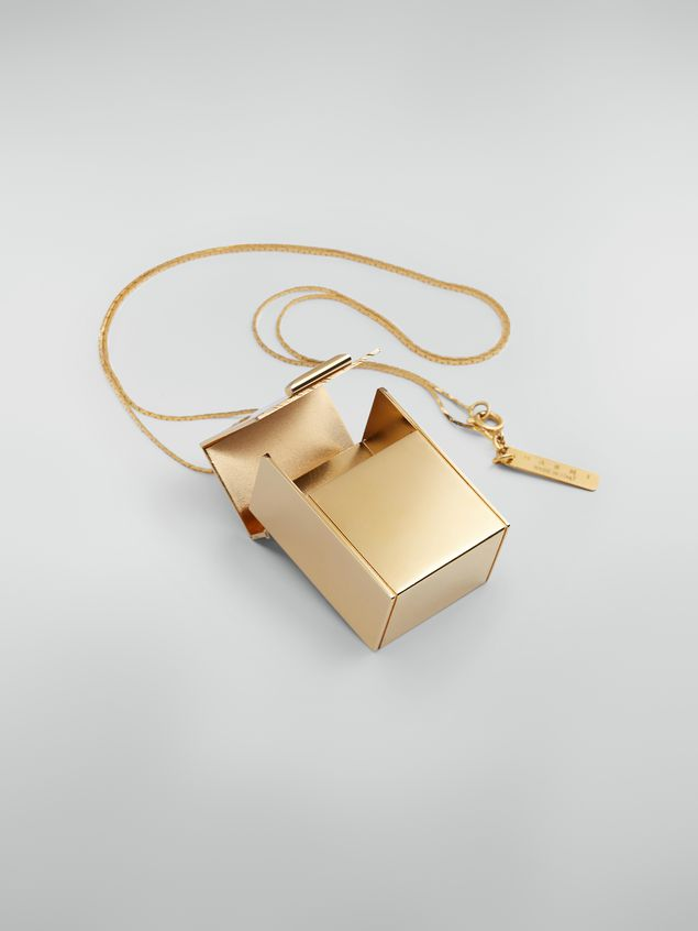 Marni Necklace in brass with box-shaped pendant Woman - 3