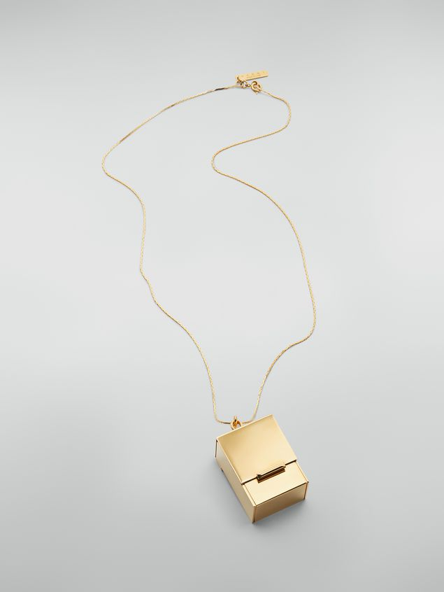 Marni Necklace in brass with box-shaped pendant Woman - 1