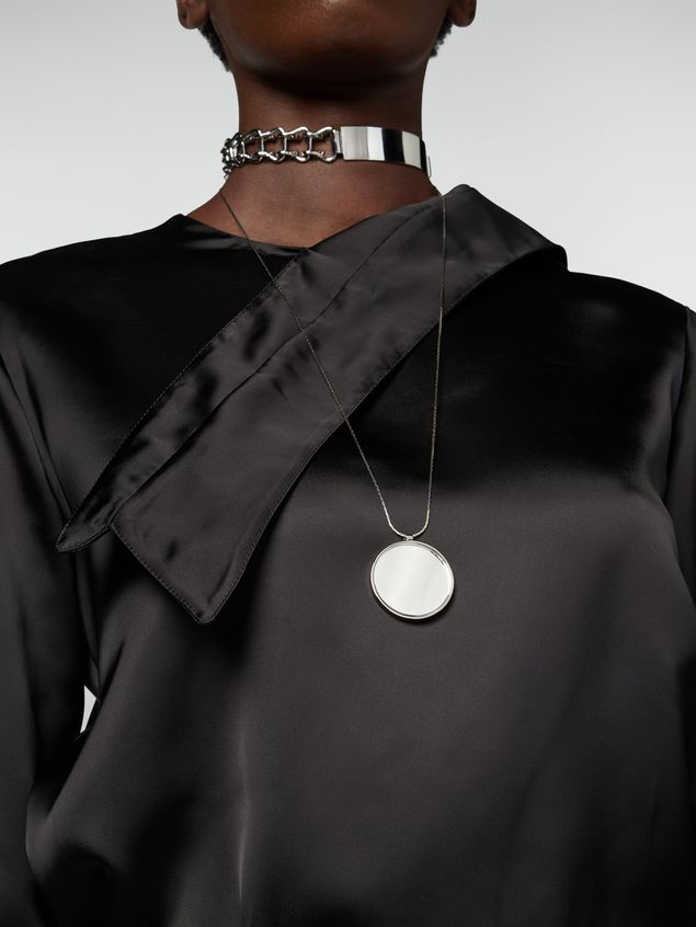 Marni Necklace in brass and resin with mirror pendant Woman - 2