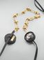 Marni Necklace in brass, glass and leather with maxi strass Woman - 4