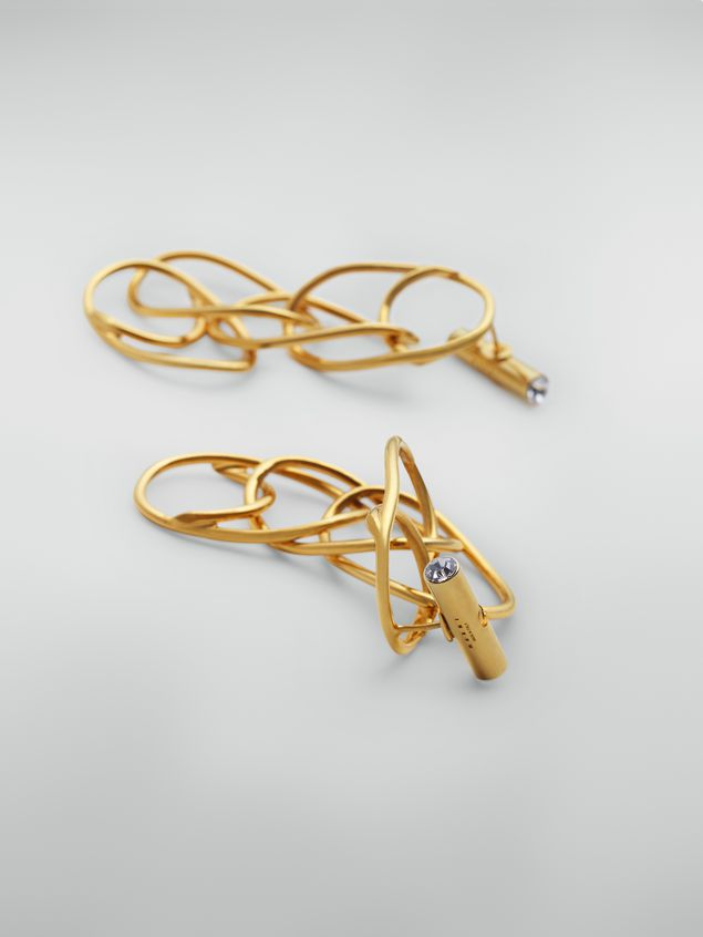 Marni Screw on earrings in brass and glass with lightweight ovals Woman - 3