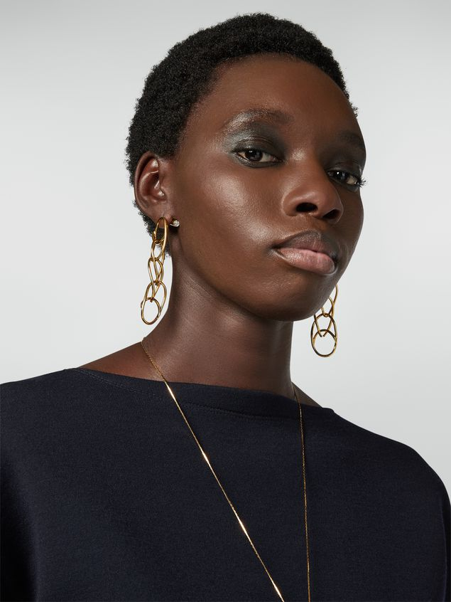 Marni Screw on earrings in brass and glass with lightweight ovals Woman - 2