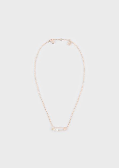 Women's Rose Gold-Tone Sterling Silver Pearl Necklace