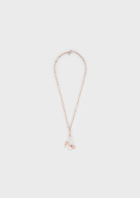 Women's Rose Gold-Tone Stainless Steel Pendant Necklace