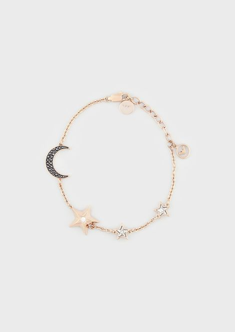 Women's Rose Gold-Tone Stainless Steel Station Bracelet