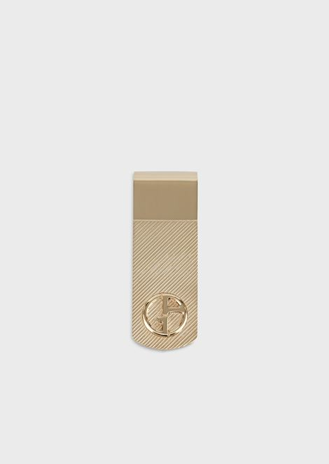 Silver money clip with engraved logo