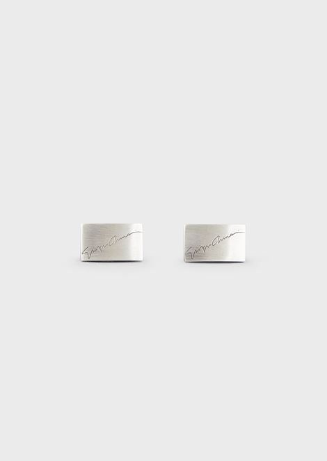 Signature cufflinks in silver