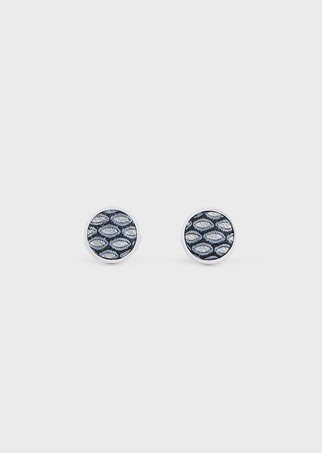 Cufflinks in silver and silk
