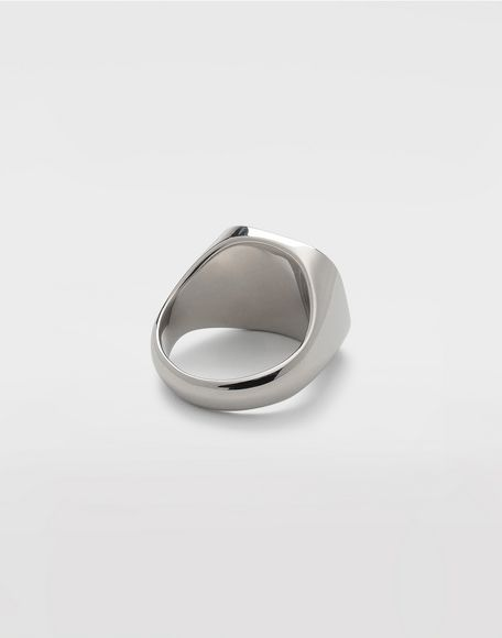 MAISON MARGIELA Silver chevalier ring Ring Man a