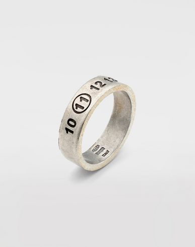 JEWELRY  Engraved silver logo ring Silver