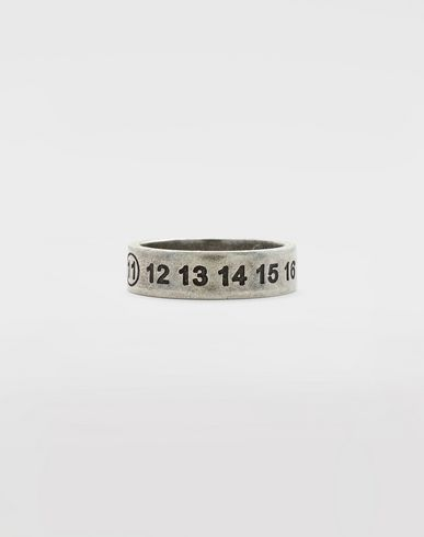 JEWELLERY Engraved silver logo ring Silver