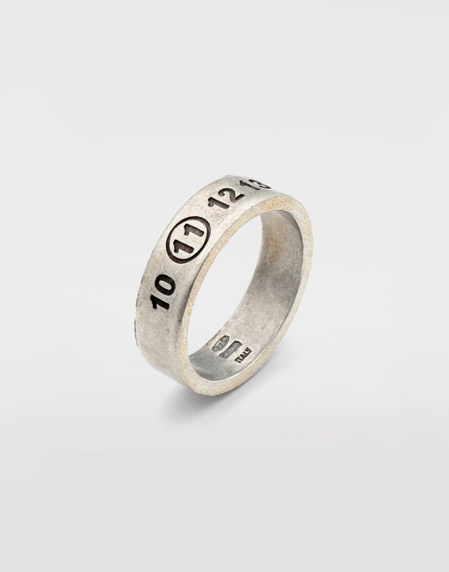 MAISON MARGIELA Engraved silver logo ring Ring Man d