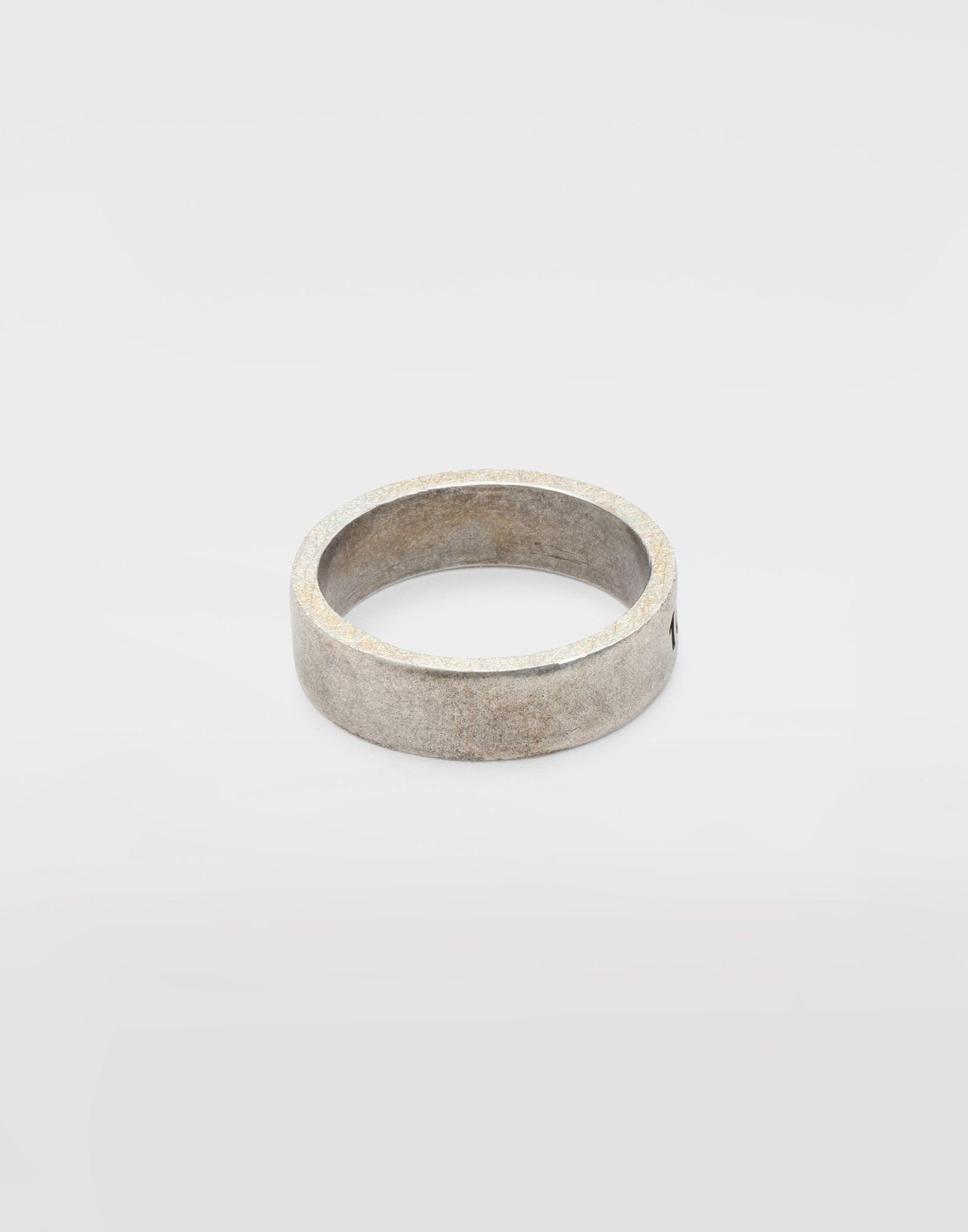MAISON MARGIELA Engraved silver logo ring Ring Man e