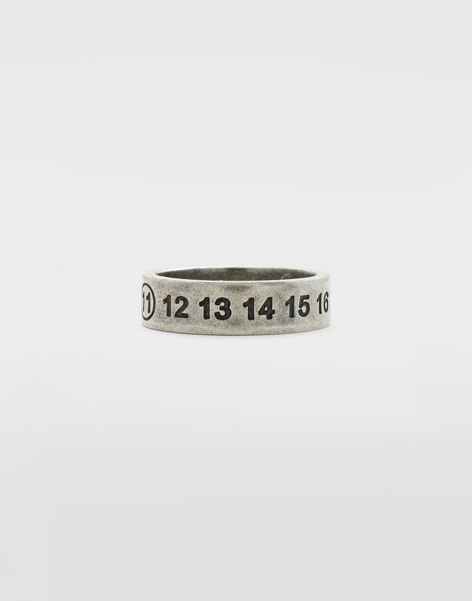 MAISON MARGIELA Engraved silver logo ring Ring Man f