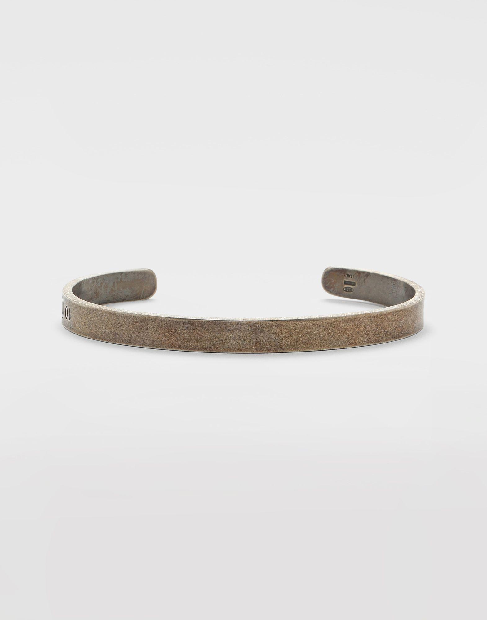 MAISON MARGIELA Silver logo cuff Bracelet Man f