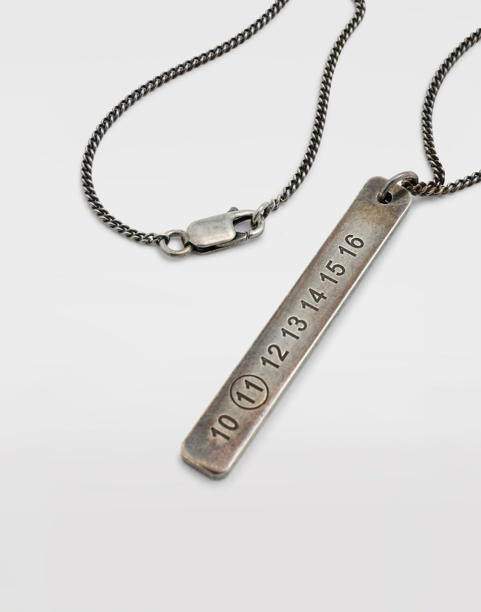 MAISON MARGIELA Silver tag necklace Necklace Man e