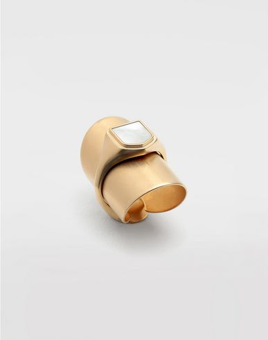 JEWELRY  Pearl double ring Gold