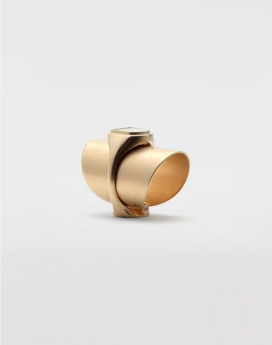 JEWELLERY Pearl double ring Gold