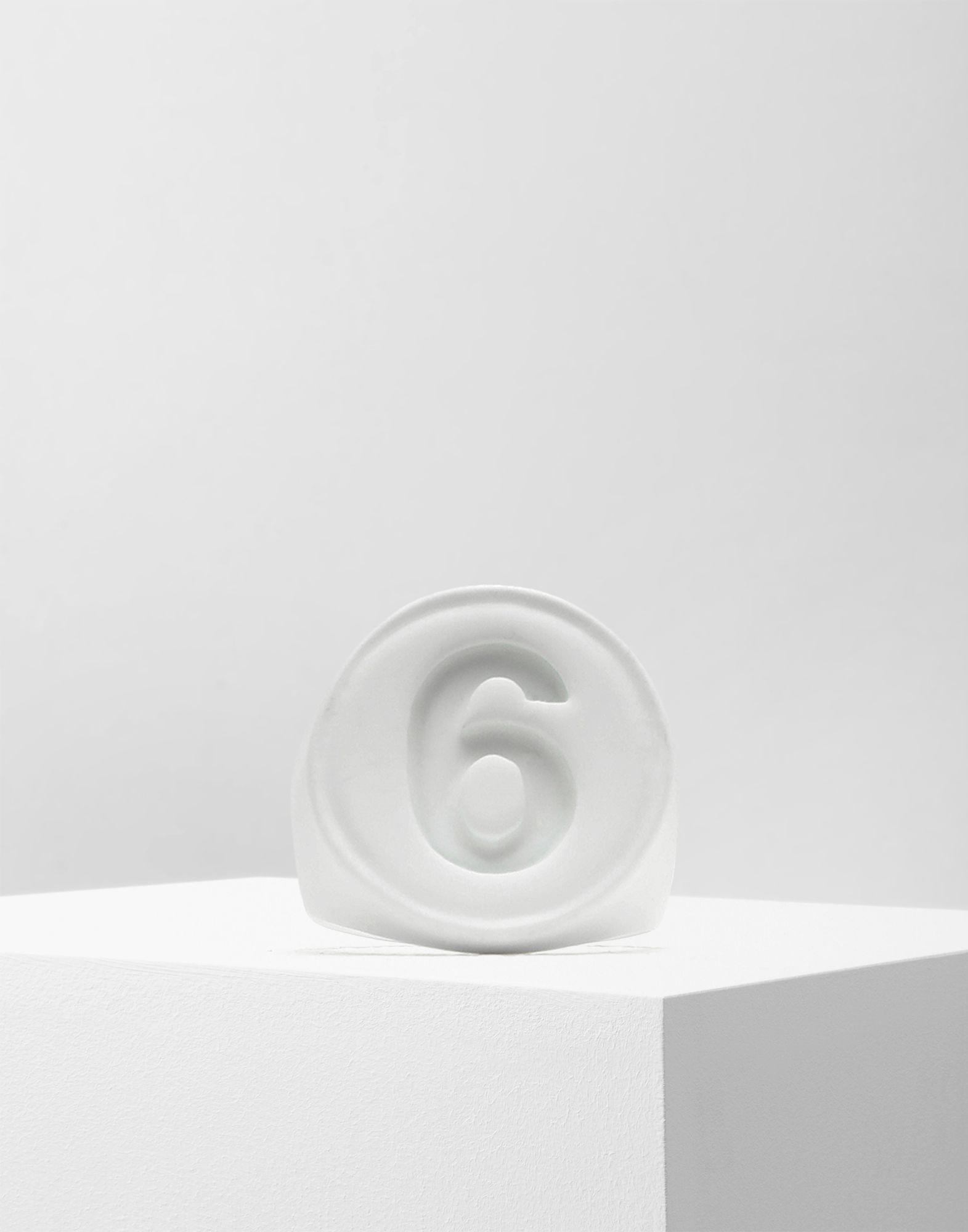 MM6 MAISON MARGIELA '6' logo ring Ring Woman f