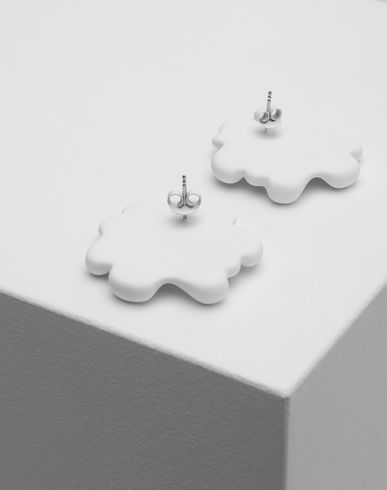 JEWELLERY Logo earrings White