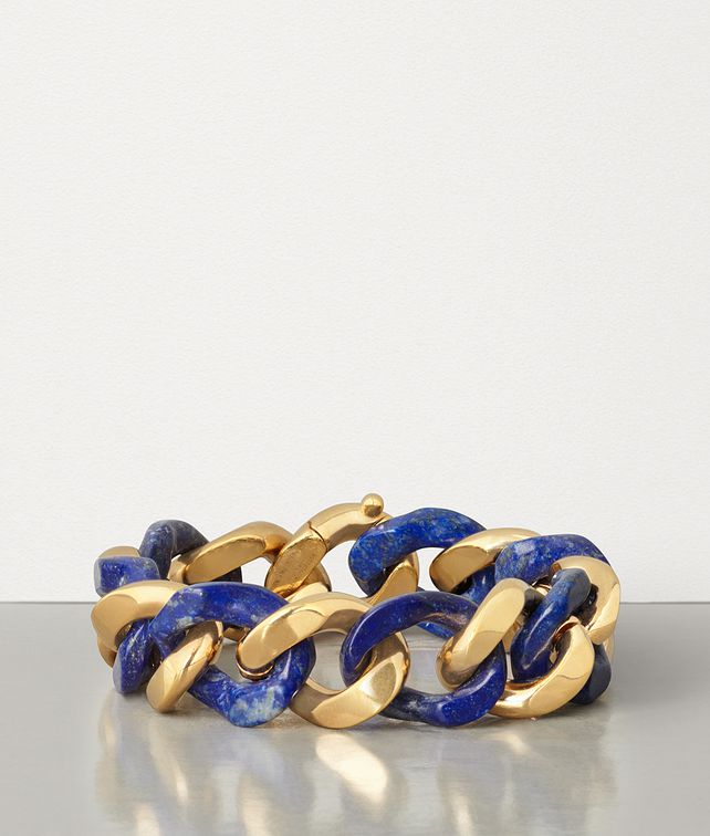 BOTTEGA VENETA BRACELET IN LAPIS LAZULI AND GOLD-PLATED SILVER Bracelet Woman fp
