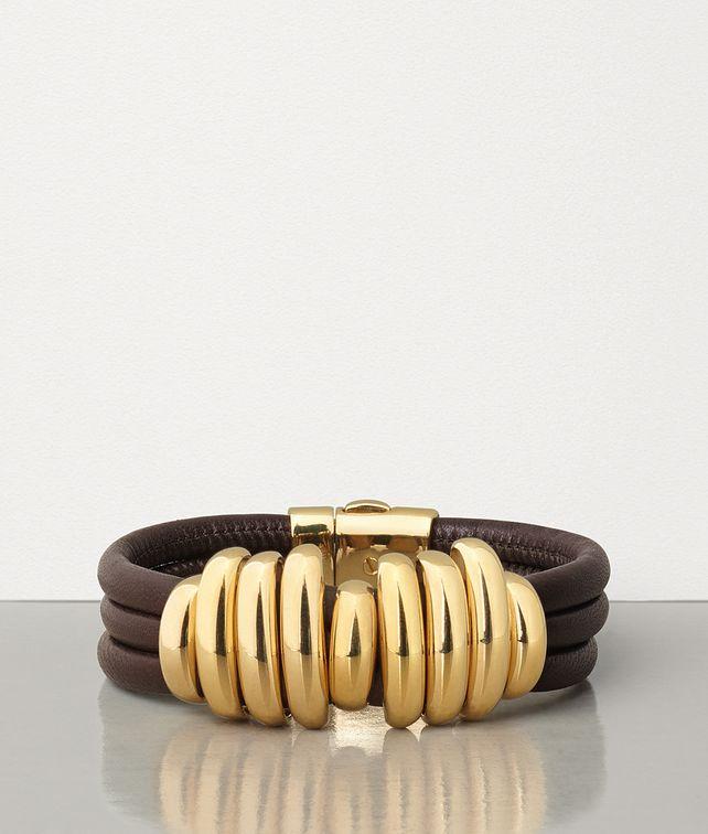BOTTEGA VENETA BRACELET IN GOLD PLATED SILVER AND NAPPA Bracelet Woman fp