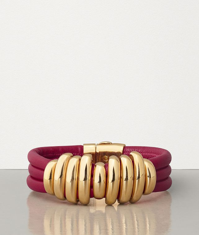 BOTTEGA VENETA BRACELET IN GOLD PLATED SILVER AND NAPPA Bracelet Woman fp