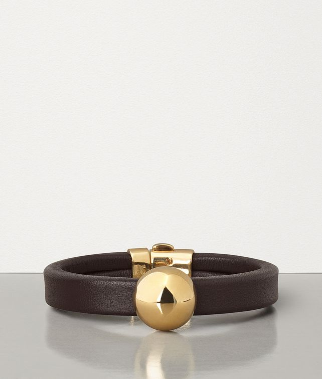 BOTTEGA VENETA BRACELET IN GOLD-PLATED SILVER AND NAPPA Bracelet Woman fp