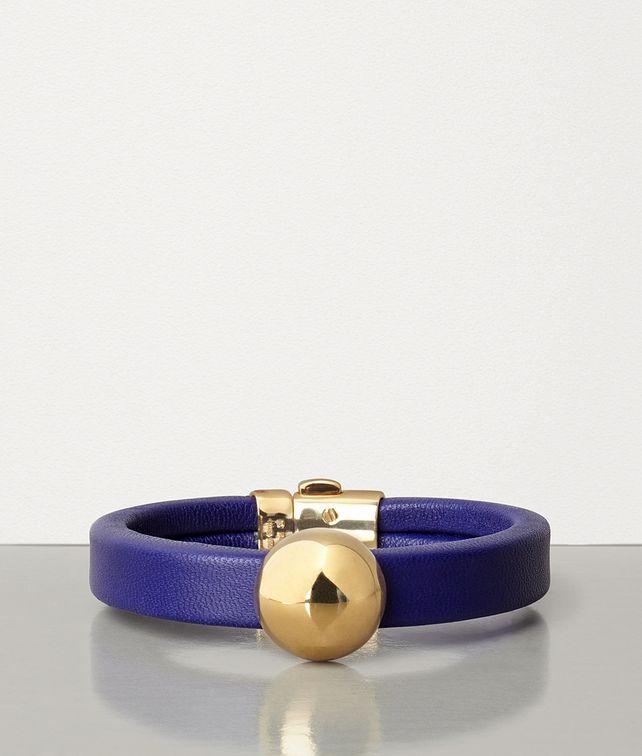 BOTTEGA VENETA BRACELET IN GOLD-PLATED SILVER AND NAPPA Bracelet Woman fp