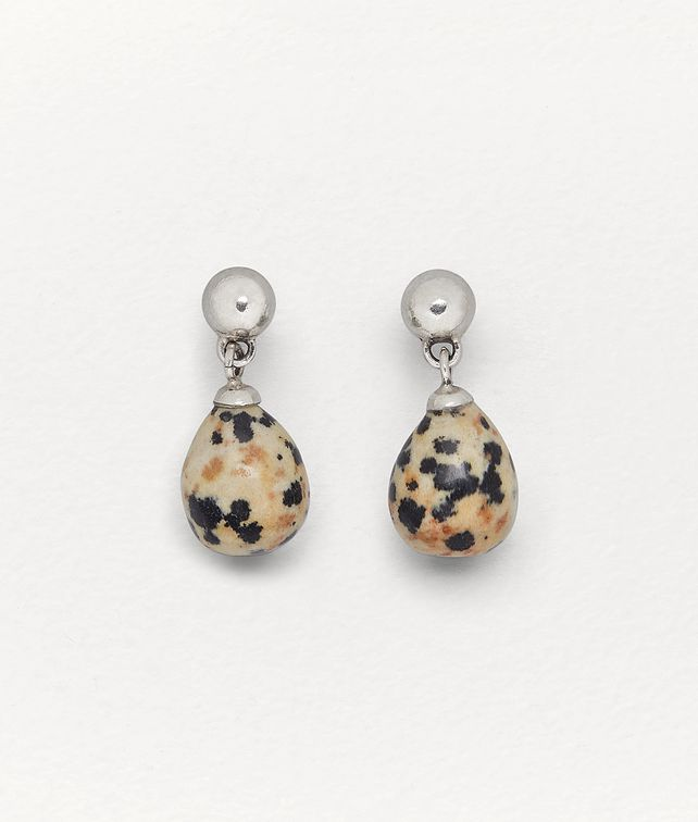 BOTTEGA VENETA EARRINGS IN DALMATIAN STONE AND SILVER Earrings Woman fp