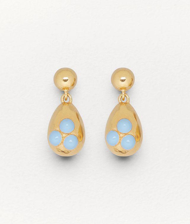 BOTTEGA VENETA EARRINGS IN GOLD-PLATED SILVER AND ENAMEL Earrings Woman fp