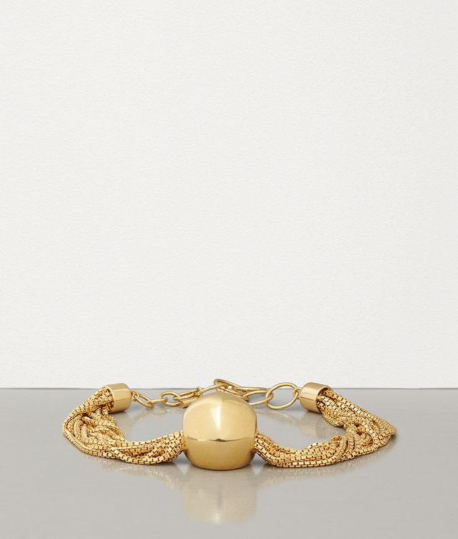 BOTTEGA VENETA NECKLACE IN GOLD-PLATED SILVER Necklace Woman fp