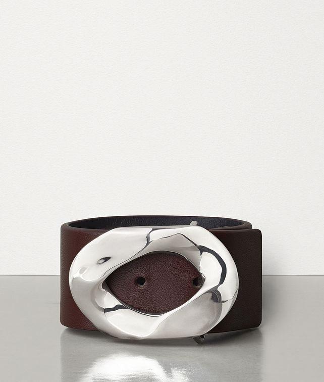BOTTEGA VENETA BRACELET IN SILVER AND NAPPA Bracelet Man fp