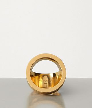 RING IN GOLD-PLATED SILVER