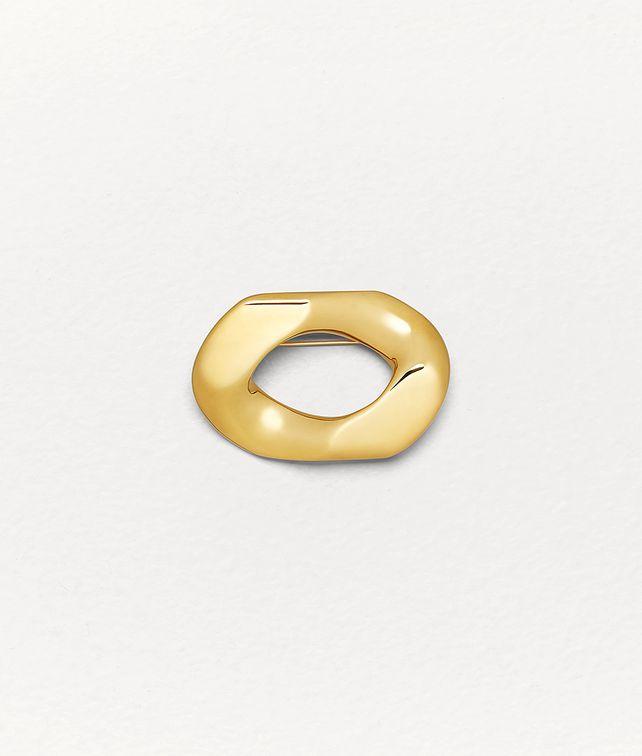 BOTTEGA VENETA BROOCH IN SILVER Other Jewelry Man fp