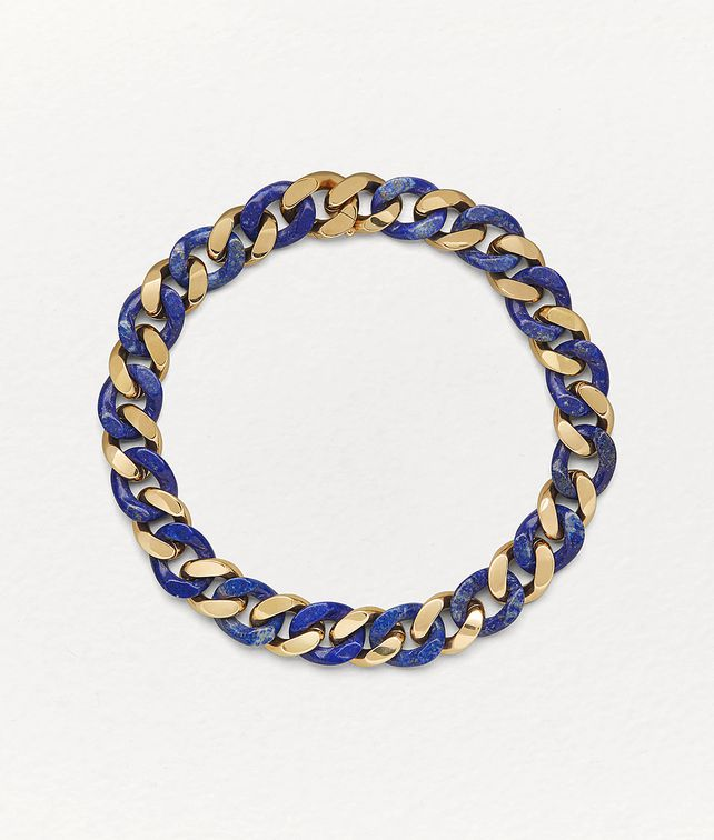 BOTTEGA VENETA NECKLACE IN LAPIS LAZULI AND GOLD PLATED SILVER Necklace Woman fp